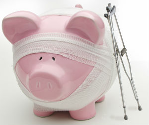 Obamacare will hurt the piggy bank more than Obama, who is himself exempt from his own law.