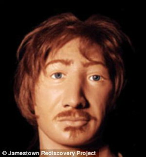 The reconstructed face of George Harrison.