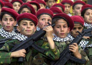 About 100,000 children will practice marching, shooting, kidnapping and killing in Gaza this summer.