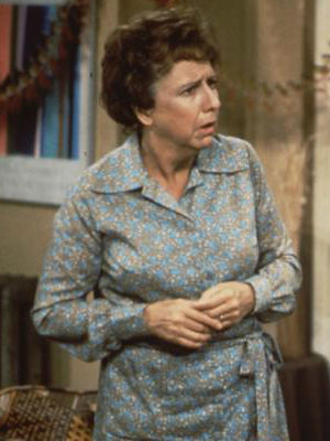 Dotty but delightful, Jean Stapleton as Edith Bunker smoothed out her husband Archie's rough edges on the classic situation comedy 'All in the Family.'