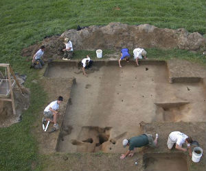 Excavations have yielded the outline of the largest longhouse ever found in Virginia and a system of ditches that may have separated sacred and secular areas.