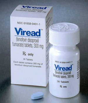 Half of the test subjects were given a daily dose of tenofovir, packaged as Viread, while the other half were given a placebo.