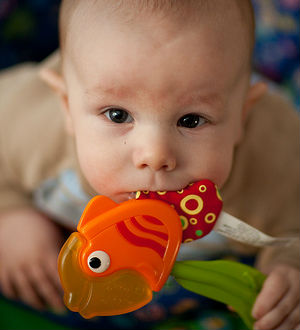 The American Journal of Clinical Nutrition suggests that giving fish to infants as little as two or three times a month may be enough to substantially reduce their risks.
