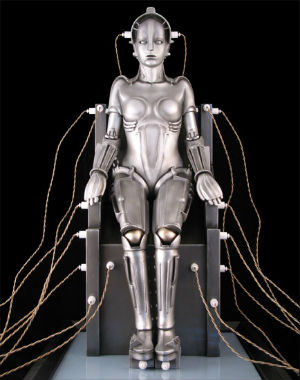 The stately female robot Maria in 'Metropolis' has become an iconic image of techno glamour.