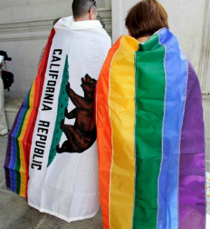 Homosexuals and lesbians celebrated their victory across the state on Wednesday.