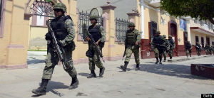 The Mexican Army in action against armed kidnappers.