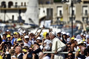 Pope Francis at Lampedusa