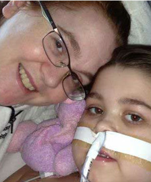 Sarah is now taking some breaths on her own, although she continues to breathe mostly with the help of a ventilator.