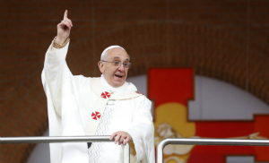 Pope Francis told people to 'look ahead with confidence' to the Church.