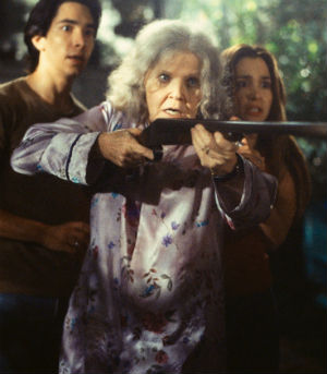 One of Eileen Brennan's most enjoyable later roles was as the crazy cat lady armed with a rifle in the monster film 'Jeepers Creepers' in 2001. Even at this advanced age, she still had those killer laser-beam eyes.