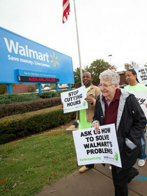The hardball tactics have been used time and again by Wal-Mart. The retailer has previously used its leverage in the form of jobs and low-priced goods to fend off legislation.