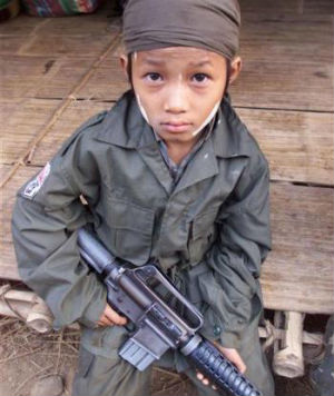 There are no conclusive figures on how many children are now serving in Myanmar's large military. According to the United Nations' children's fund UNICEF, the army has released over 520 children since 2006.