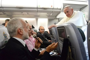 Pope Francis boarding the plane
