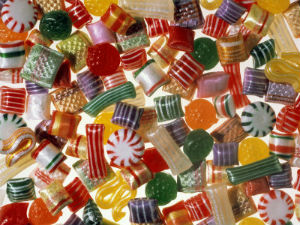 Hard candy leads the list of foods that children choke on annually.