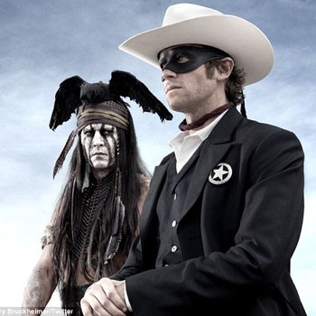 When Johnny Depp daubs on the war paint in the latest movie version of 'The Lone Ranger,' he'll be using the same offbeat charm as his Captain Jack Sparrow in the 'Pirates of the Caribbean' franchise - and Tonto will be the brains of the operation.