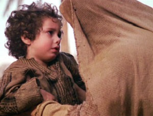 Mary and the child Jesus from the Passion of the Christ