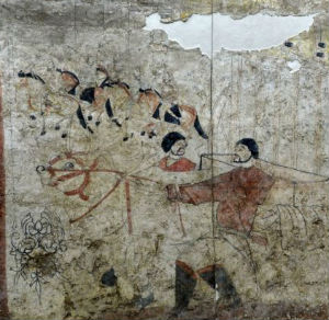 While there is expected damage from the ravages of time, the murals are remarkably preserved given their advanced age.
