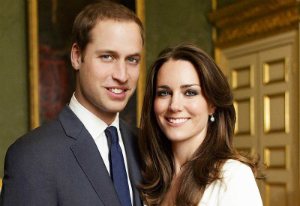William and Kate, Prince and Princess of England.