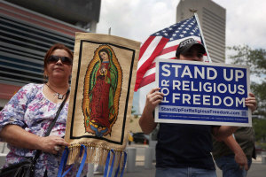 Protesters across the nation are making a new stand for religious freedom and the protection of life.