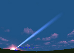 Comet ISON as it may appear in late November.