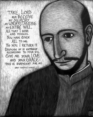 Today, we remember the founder of the Company or Society of Jesus (Jesuits), Ignatius of Loyola. He is the patron saint of soldiers and of retreatants. There is a connection. He was a soldier and the Spiritual Exercise which he left us have been used for hundreds of years to help men and women like us encounter Jesus Christ, on retreats, and in our daily lives. The disciplines they promote can help us to grow in holiness of life, no matter what our state in life, and equip us for service in the Army of the King, Jesus Christ.