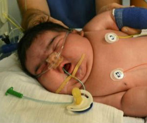 Jasleen, delivered last week in Leipzig, Germany has become that nation's largest delivered baby at t 13.47 pounds and 22.6 inches long.