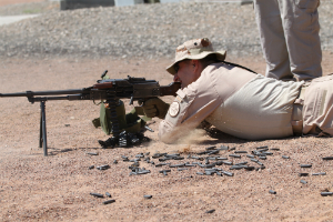 Border patrol agents train with heavy weapons. Just in case?
