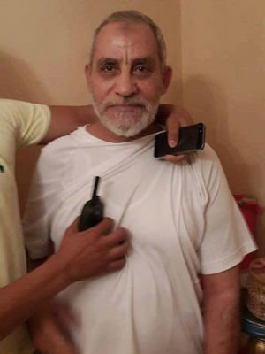 Mohamed Badie was captured near Rabaa al-Adawiya Square, where more than 280 Morsi supporters were killed last week. He was detained as police cleared their protest camp, according to the Interior Ministry.