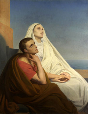 St. Monica and her son, St. Augustine.