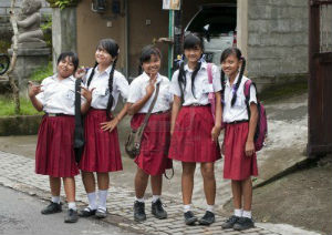 Indonesian girls start high school at around 15 or 16.