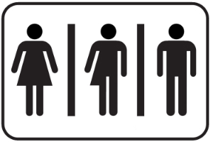 What is that in the middle and why is it suddenly okay? How did we ever exist as a society without three restrooms?
