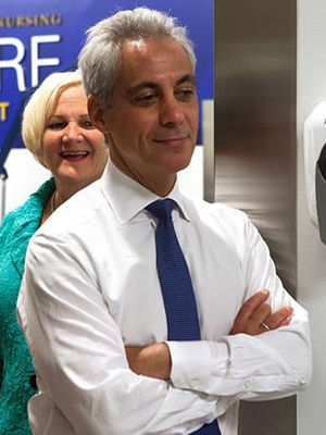 In releasing the budget, Chicago Mayor Rahm Emanuel remains optimistic - in spite of everything.