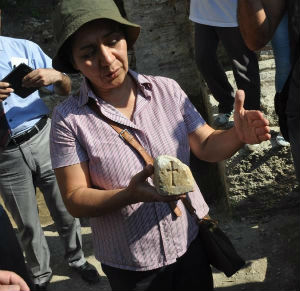 Archaeologist Gülgün Köroglu says a recently unearthed chest holds a most holy relic. 'We have found a holy thing in a chest. It is a piece of a cross,' she has been quoted as saying.