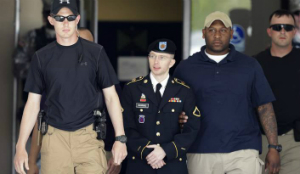 Manning is on his way to a long sentence at Leavenworth military prison.