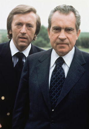 Sir David Frost is perhaps best known for his series of revealing interviews with former U.S. President Richard Nixon following the Watergate scandal.