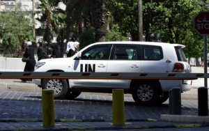 UN officials spent several days in Damascus collecting evidence.