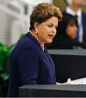 Not mollified by U.S. explanations about U.S. cyber-surveillance of Brazil, President Brazil, Dilma Rousseff said Brazil 'knows how to protect itself. We reject, fight and do not harbor terrorist groups.'