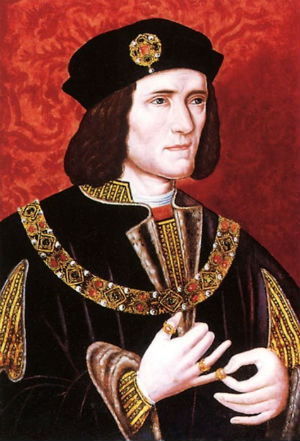 Richard III ... had a personal problem that, judging from this painting, he didn't want to discuss.