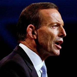 'From today I declare that Australia is under new management and Australia is once more open for business,' Tony Abbott told his supporters in Sydney.