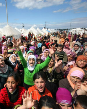 Half of those forced that have been forced to leave Syria have been children, the U.N. estimates, with about three-quarters of them younger than 11 years of age.