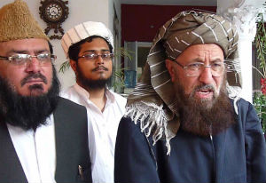 Maulana Sami ul-Haq, shown at the right, believes the Taliban are freedom fighters.