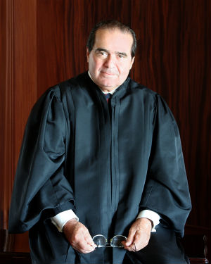 Antonin Scalia has served on the high court for 27 years. When asked what evidence there is of the Devil in today's world, he said, 'You know, it's curious. In the Gospels, the Devil is doing all sorts of things. He's making pigs run off cliffs, he's possessing people and whatnot. And that doesn't happen much anymore.'