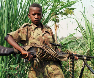 The ages of the child soldiers ranged from 11 to 17 and most were aged 15, 16 or 17. Some children said they had been recruited by a football coach and a police officer, who were earning $5 per child.