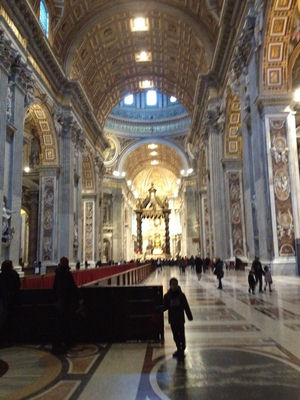 Inside the Vatican.