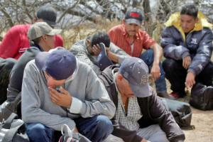 Asylum seekers such as these stand a good chance of being killed if they are caught back at home by the cartels.