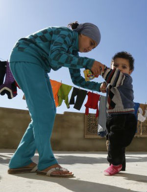 Unsanitary conditions in many Syrian refugee camps have put children at risk for contracting polio.