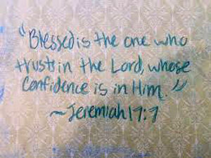 Blessed is the one who trust in the Lord.