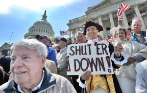 Some citizens have actually rallied for a shutdown as a way to reduce rampant government spending.