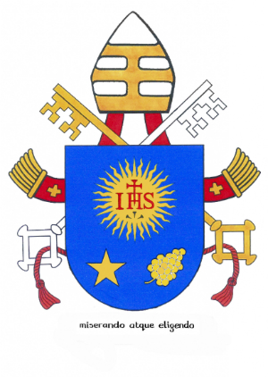 Make no mistake, the Pope is powerful, complete with a personal coat of arms. When the pope speaks, over a billion ears turn towards his voice.