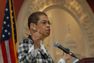 Eleanor Norton Holmes exchanged tough words with Obama during a meeting yesterday revealing cracks within his own party. Democrats are growing weary of Obama's 'strategy.'